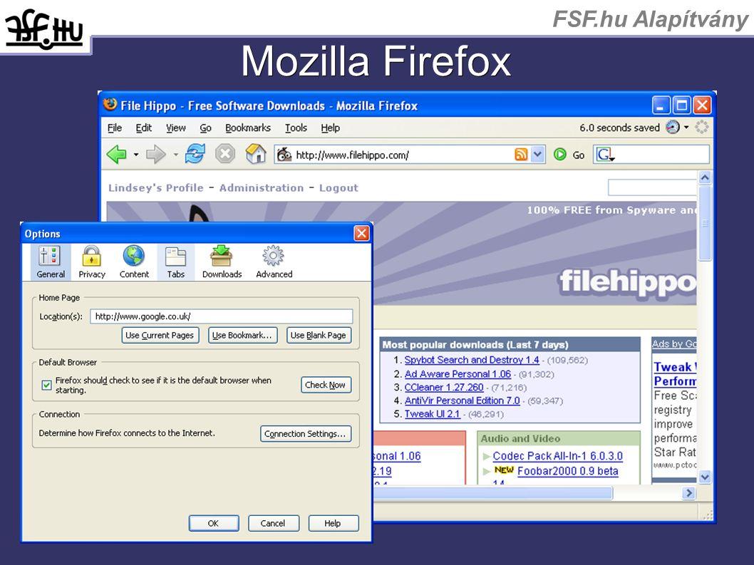 FSF.hu Alapítvány Mozilla Firefox