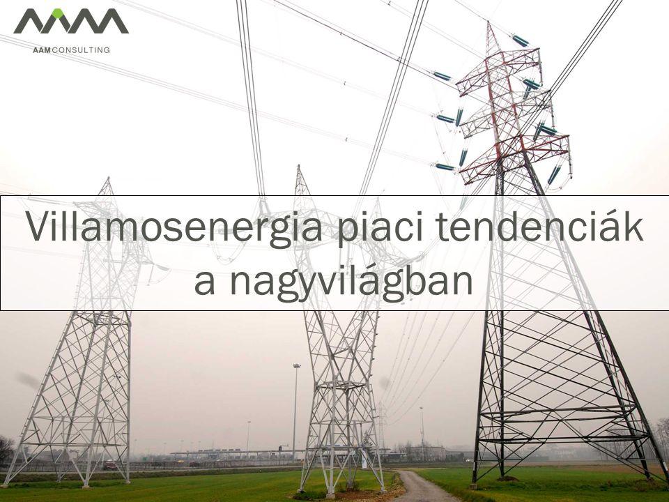 Villamosenergia piaci tendenciák a nagyvilágban