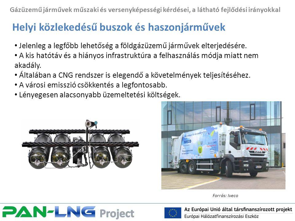 Gázüzemű járművek műszaki és versenyképességi kérdései, a látható fejlődési irányokkal Helyi közlekedésű buszok és haszonjárművek Jelenleg a legfőbb lehetőség a földgázüzemű járművek elterjedésére.