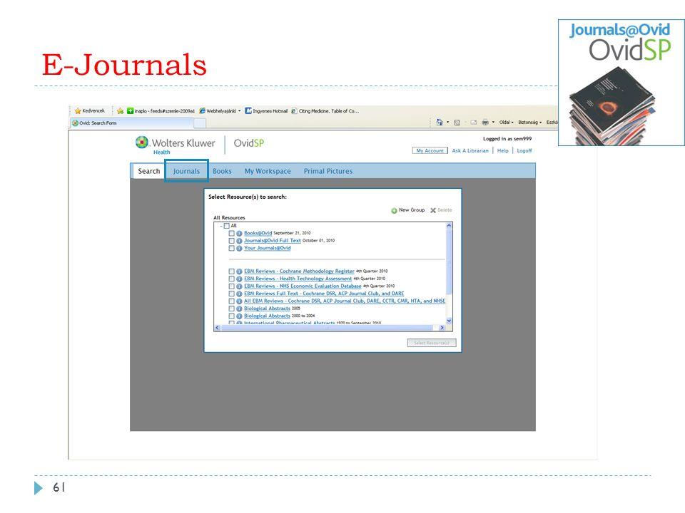 E-Journals 61