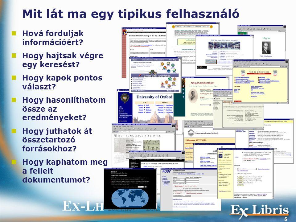 E X -L H 2004.nov. – DMS-labor 5 Mit lát ma egy tipikus felhasználó Hová forduljak információért.