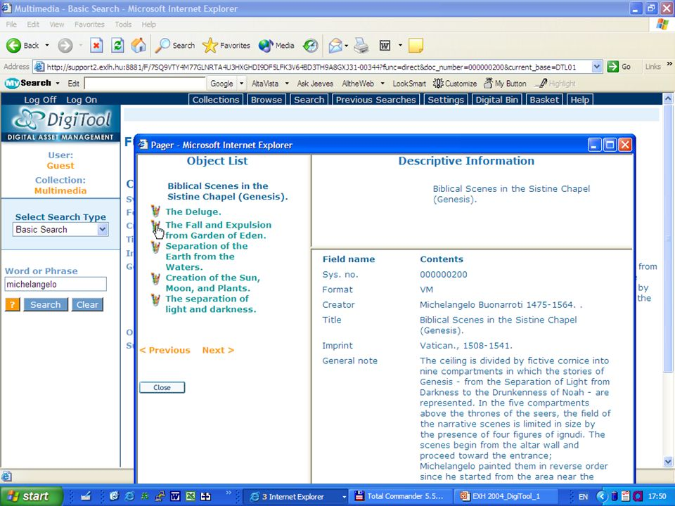 E X -L H 2004.nov. – DMS-labor 56