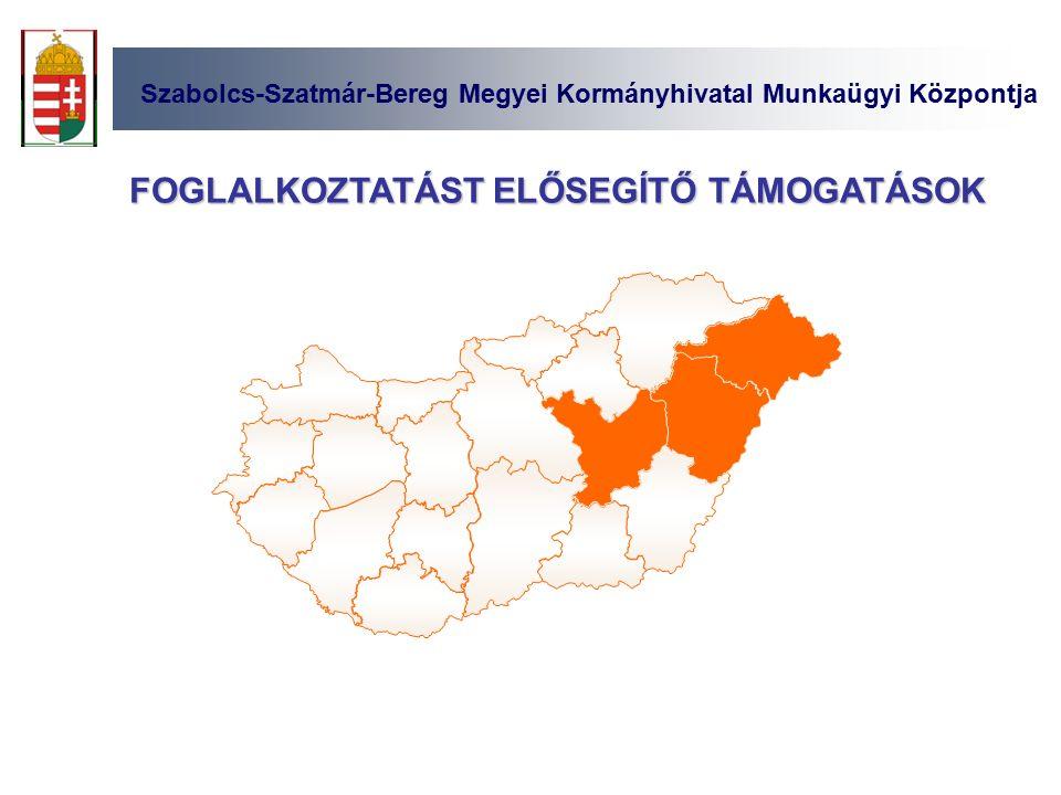 Szabolcs-Szatmár-Bereg Megyei Kormányhivatal Munkaügyi Központja FOGLALKOZTATÁST ELŐSEGÍTŐ TÁMOGATÁSOK
