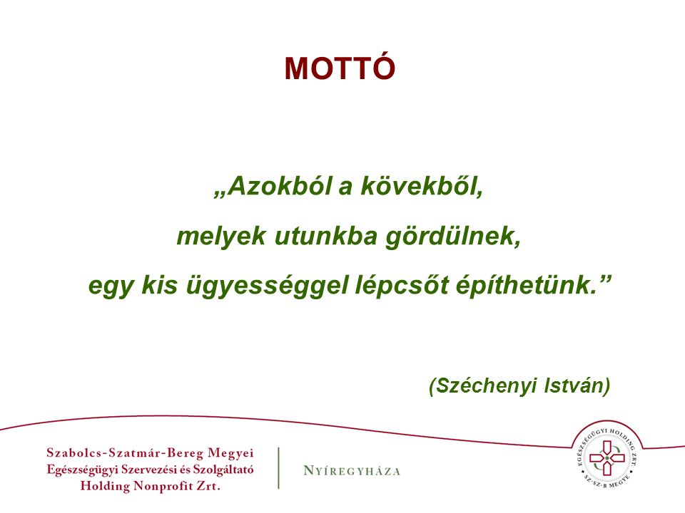 """A Holding létrehozásának makro- gazdasági okai: - 2008-2009-ben gazdasági válság elérte Magyarországot, fokozódott a forráskivonás az egészségügyből; - """"az egészségügy nem termelő ágazat ; - az egyre szűkülő keretekből is egyenetlen finanszírozás; - duális finanszírozás illúzió; - az egészségügyi ellátó rendszer eklektikus működése; - a betegutak átláthatatlanok, szakmailag és gazdaságilag sokszor irracionálisak."""