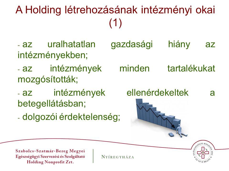 Összefoglalás Szabolcs-Szatmár-Bereg megyében az Egészségügyi Holding létrehozásával már kézzel fogható gazdasági eredményeket tudunk felmutatni.