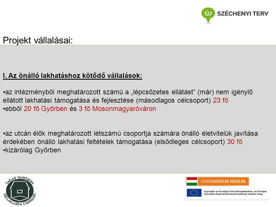 """Összegzésképpen a jelenlegi intézményi struktúra Győrben megfelelő színvonalú ellátást képes nyújtani DE kizárólag intézményi keretek között a hospitalizáltság feloldása, csökkentése sok esetben elkerülhetetlen folyamattá válik az intézményi integráció elvégzésén túl, külső férőhelyeken elvégzendő rehabilitációt az intézményi leterheltség és az utcai hajléktalanok számának folyamatos növekedése végett nem képes már végezni hiányoznak az intézmény életéből a külső helyszínekre fókuszáló rehabilitációs csatornák, és az ehhez szükséges támogató struktúrák szemléletként nincs jelen a """"lakhatás központú gondozás, mint alternatíva A projekt legitimitása, szükségessége:"""