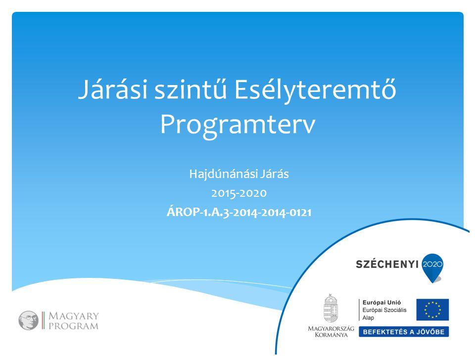 Járási szintű Esélyteremtő Programterv Hajdúnánási Járás 2015-2020 ÁROP-1.A.3-2014-2014-0121