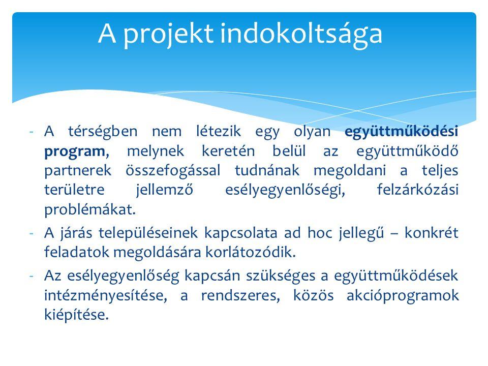 -A térségben nem létezik egy olyan együttműködési program, melynek keretén belül az együttműködő partnerek összefogással tudnának megoldani a teljes t
