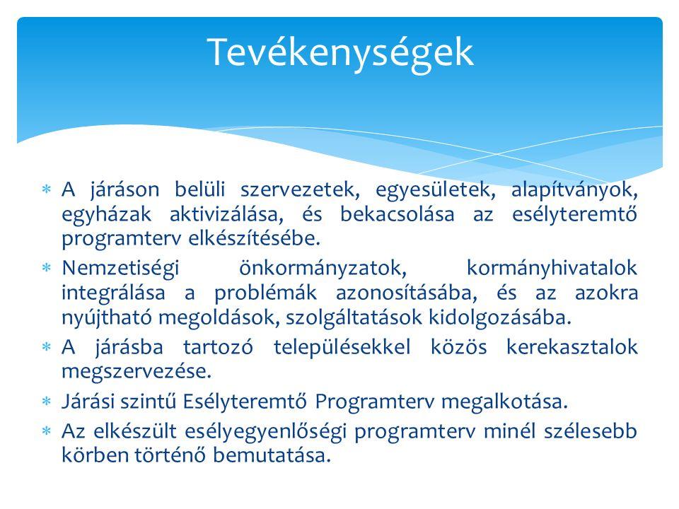  Kialakításra kerültek a szolgáltatási és intézményi együttműködések a járásban.