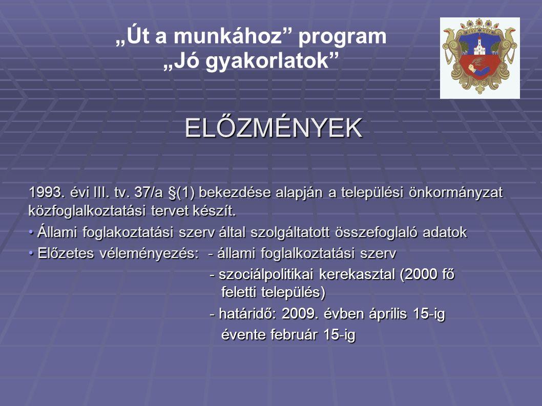 ELŐZMÉNYEK 1993. évi III. tv.