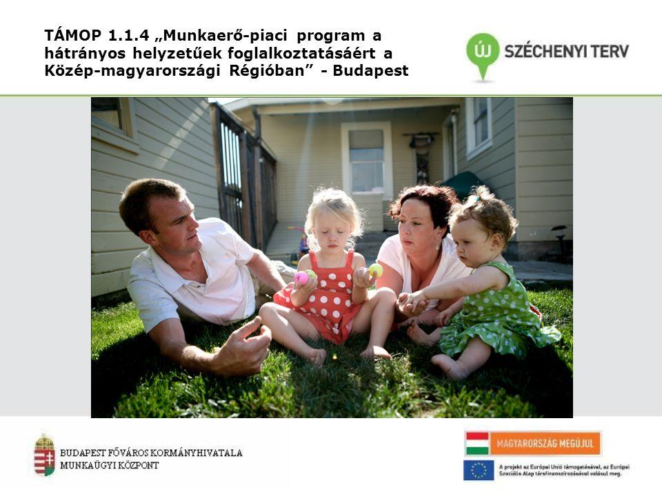 """TÁMOP 1.1.4 """"Munkaerő-piaci program a hátrányos helyzetűek foglalkoztatásáért a Közép-magyarországi Régióban - Budapest"""