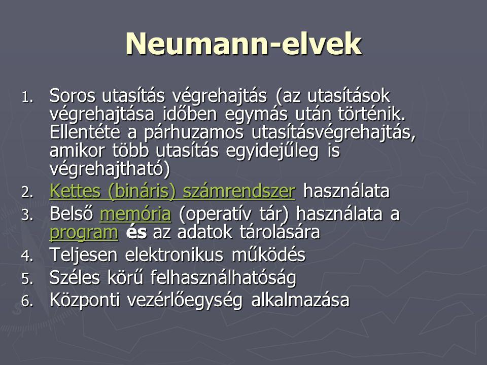 Neumann-elvek 1.