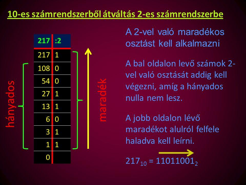 2 hatványai 2 0 = 12 5 = 322 10 = 1024 2 1 = 22 6 = 642 11 = 2048 2 2 = 42 7 = 1282 12 = 4096 2 3 = 82 8 = 2562 13 = 8192 2 4 = 162 9 = 5122 14 = 16384