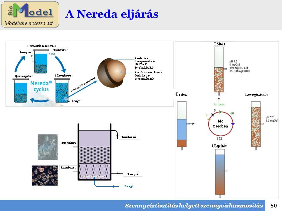 50 Modellare necesse est… A Nereda eljárás Szennyvíztisztítás helyett szennyvízhasznosítás
