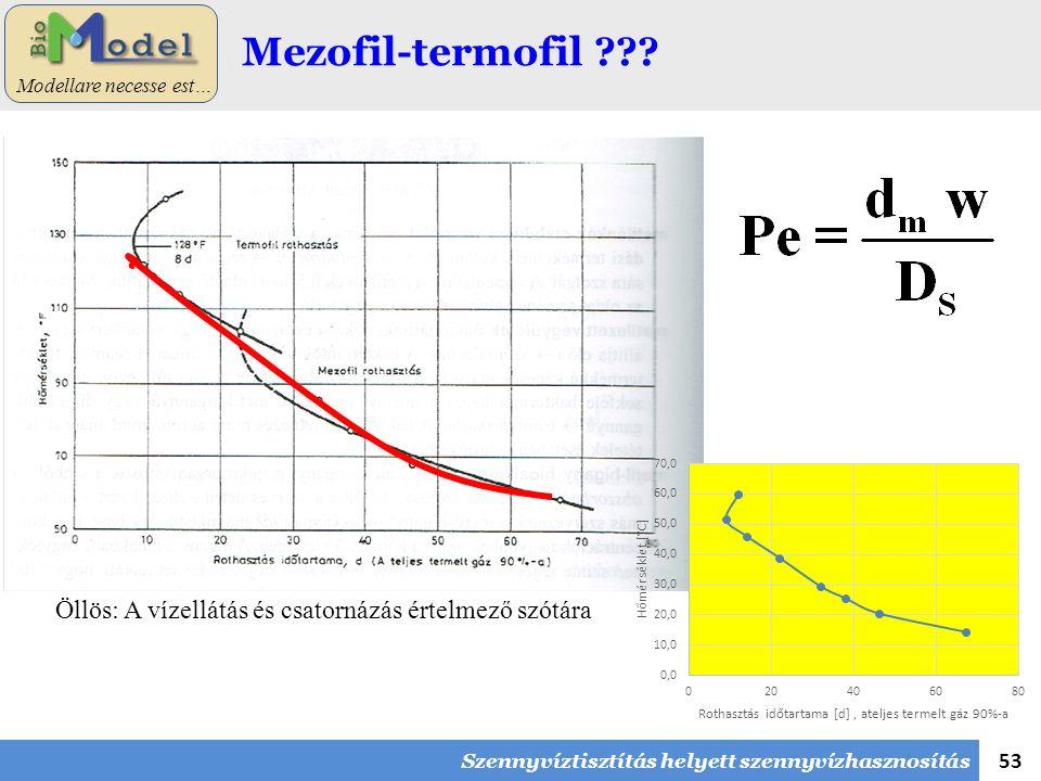 53 Modellare necesse est… Mezofil-termofil .