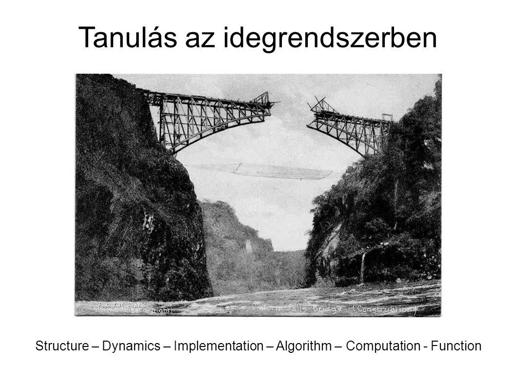 Tanulás az idegrendszerben Structure – Dynamics – Implementation – Algorithm – Computation - Function