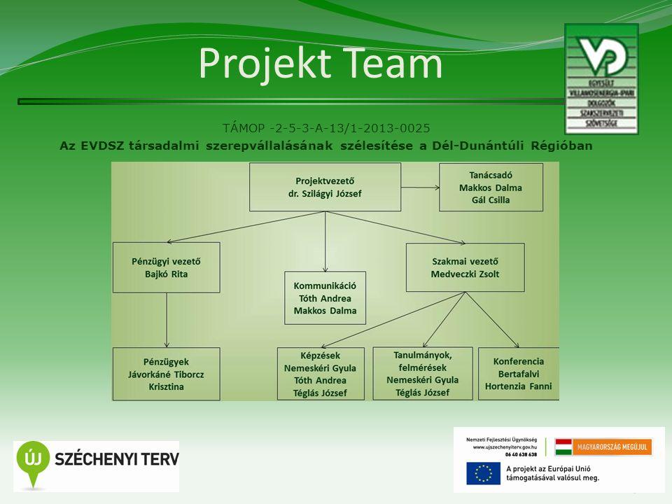 A projekt tartalmi elemei TÁMOP -2-5-3-A-13/1-2013-0025 Az EVDSZ társadalmi szerepvállalásának szélesítése a Dél-Dunántúli Régióban  Elemzések, felmérések, tanulmányok kidolgozása  Képzések  Rendezvények, konferenciák  Tájékoztató anyagok  Tagszervezés  A projekt számszerűsíthető eredményei (indikátorok)  Kommunikáció  Finanszírozás 4