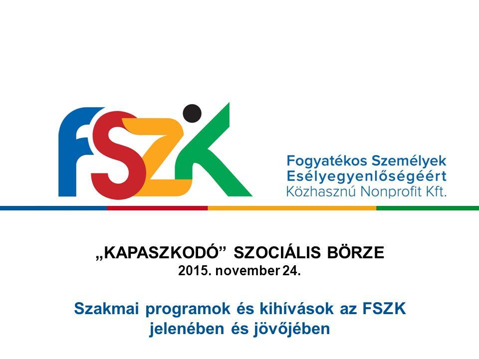 """""""KAPASZKODÓ SZOCIÁLIS BÖRZE 2015. november 24."""
