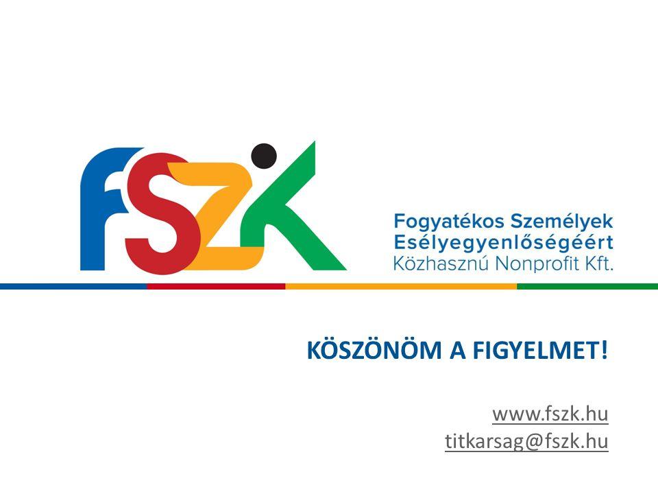 KÖSZÖNÖM A FIGYELMET! www.fszk.hu titkarsag@fszk.hu