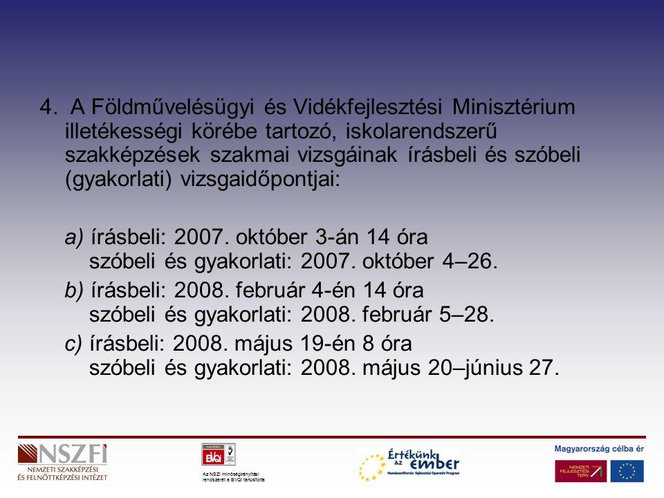 Az NSZI minőségirányítási rendszerét a BVQI tanúsította 4.