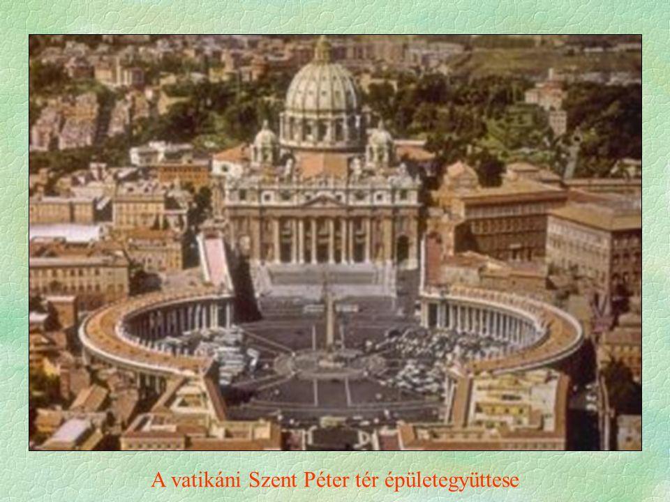 A vatikáni Szent Péter tér épületegyüttese