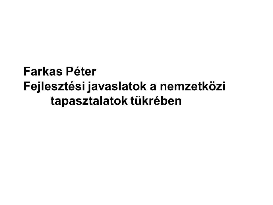 Farkas Péter Fejlesztési javaslatok a nemzetközi tapasztalatok tükrében