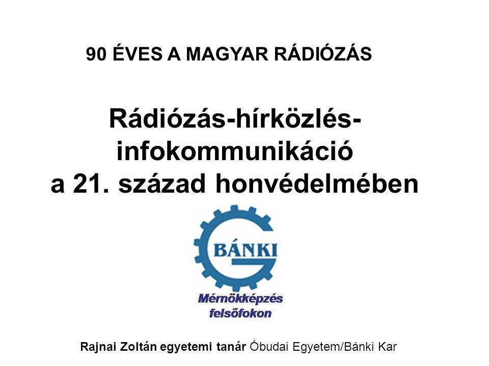 Rádiózás-hírközlés- infokommunikáció a 21.