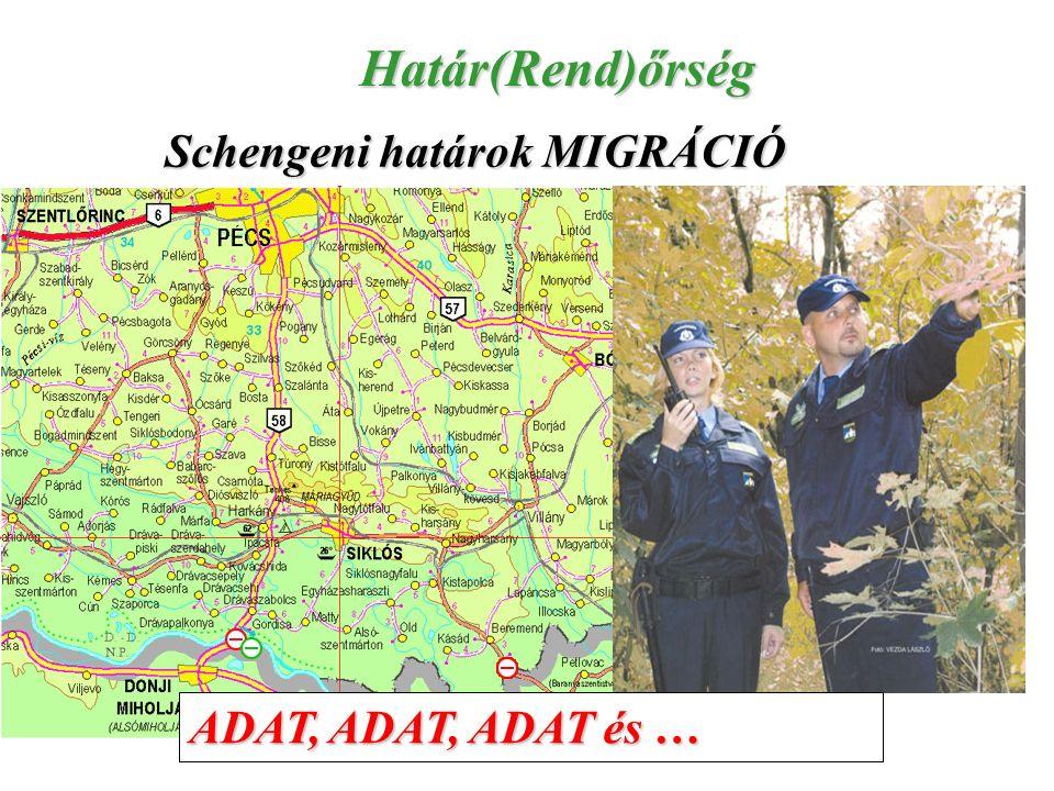 Határ(Rend)őrség Schengeni határok MIGRÁCIÓ ADAT, ADAT, ADAT és …