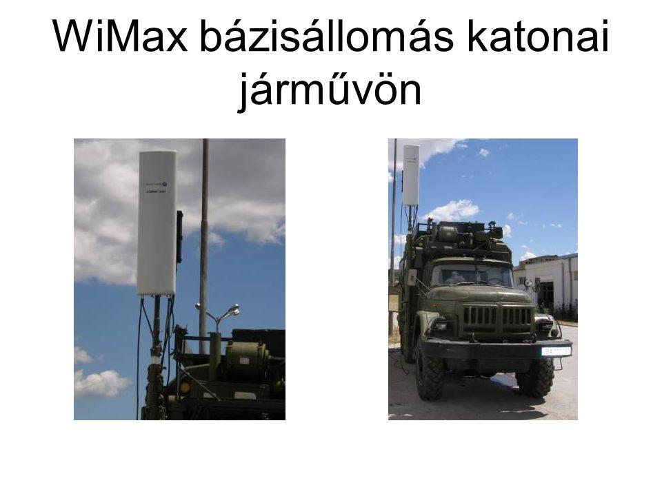 WiMax bázisállomás katonai járművön