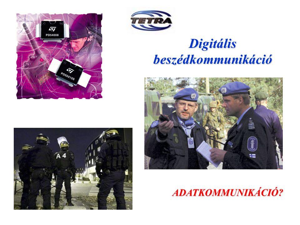 Digitális beszédkommunikáció ADATKOMMUNIKÁCIÓ