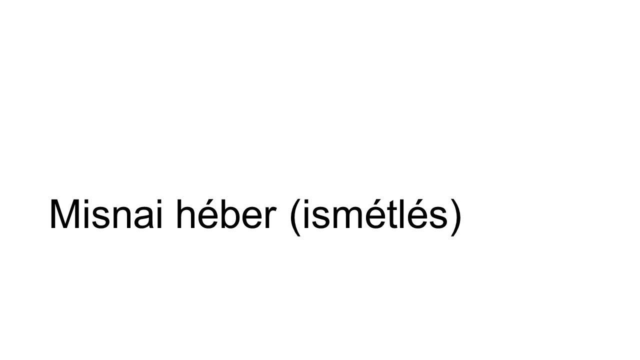 Komplikált többnyelvűség Külső (héber-X) kétnyelvűség a külvilágban és a zsidó közösségen belül is: Arámi― a babiloni fogságtól kezdve (az arab hódításig).