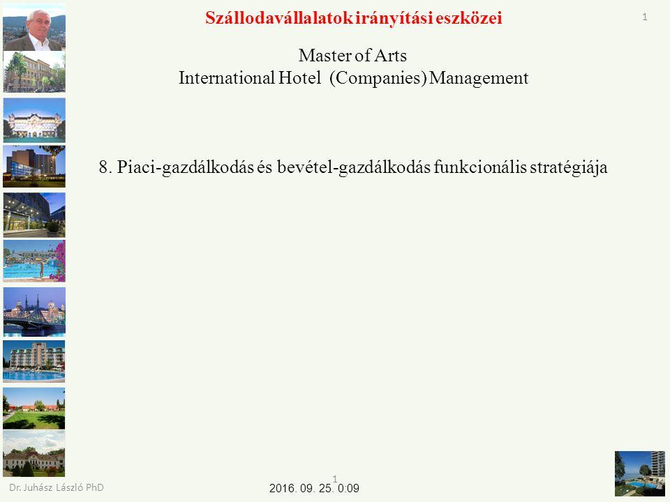 2016. 09. 25. 0:11 Dr. Juhász László PhD 22 Szállodavállalatok irányítási eszközei Kérdés Köszönöm