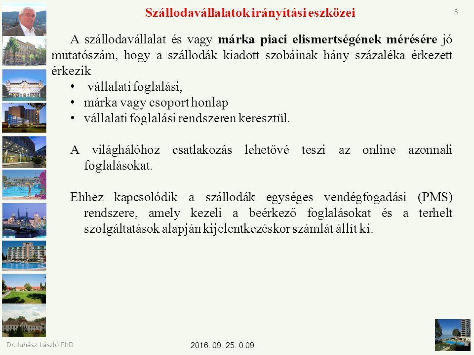 2016. 09. 25. 0:11 Dr. Juhász László PhD 3 Szállodavállalatok irányítási eszközei A szállodavállalat és vagy márka piaci elismertségének mérésére jó m