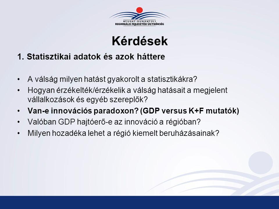 Kérdések 1. Statisztikai adatok és azok háttere A válság milyen hatást gyakorolt a statisztikákra.