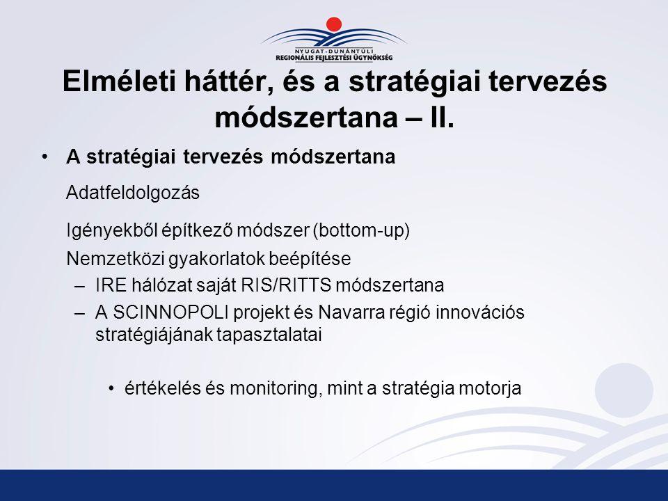 Elméleti háttér, és a stratégiai tervezés módszertana – II.