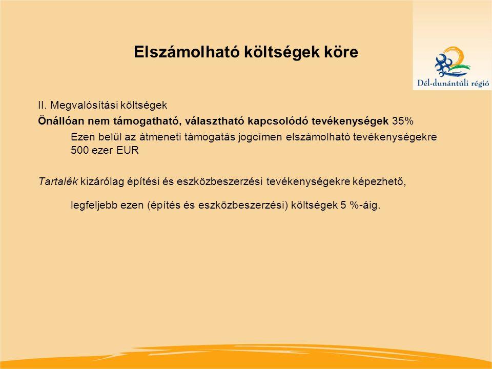 Pályázati feltételek Fenntartási kötelezettség: A projektet a befejezését követő 5 évig az adott régióban fenn kell tartani és üzemeltetni (kis- és középvállalkozások esetén is 5 év) Támogatási szerződés megkötésének speciális feltétele: A szerződéskötéshez szükséges dokumentumok benyújtására vonatkozó 16/2006 (XII.