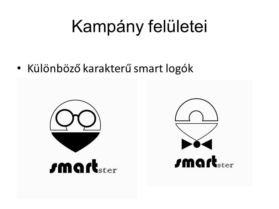 Kampány felületei Különböző karakterű smart logók