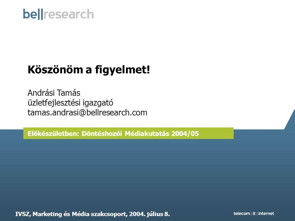IVSZ - Marketing és Média szakcsoport, 2004. július 8.