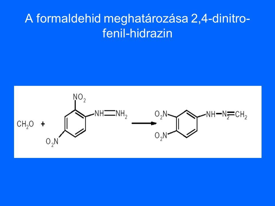 A formaldehid meghatározása 2,4-dinitro- fenil-hidrazin
