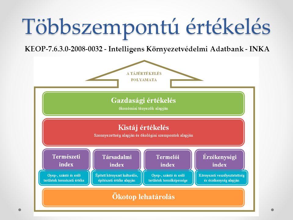 Többszempontú értékelés KEOP-7.6.3.0-2008-0032 - Intelligens Környezetvédelmi Adatbank - INKA