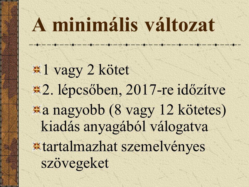 Költségbecslés (1) Kézirat-előkészítési feladatok tiszteletdíjas feladatok (2010-es árakon) fordítás (2 Ft+áfa/n) kontrollszerkesztés (kb.