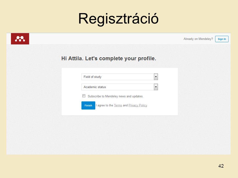 Regisztráció 42