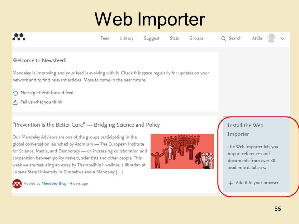 Web Importer 55