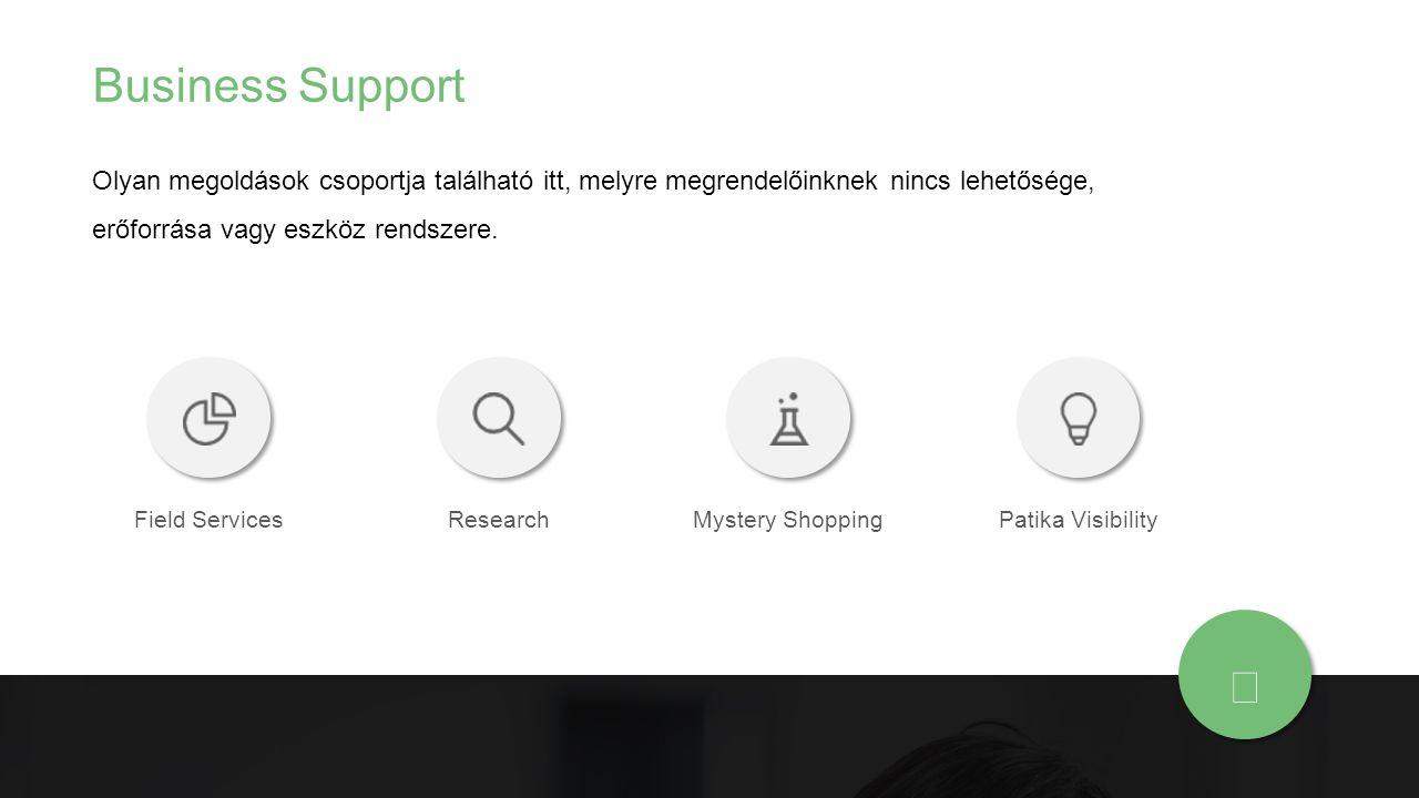 Business Support Olyan megoldások csoportja található itt, melyre megrendelőinknek nincs lehetősége, erőforrása vagy eszköz rendszere. Field ServicesR