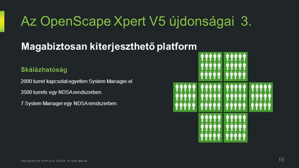 Az OpenScape Xpert V5 újdonságai 3. 15 Copyright © Unify GmbH & Co.