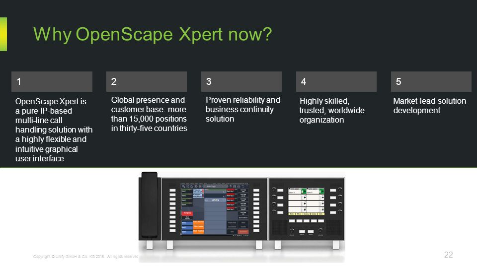 Why OpenScape Xpert now.