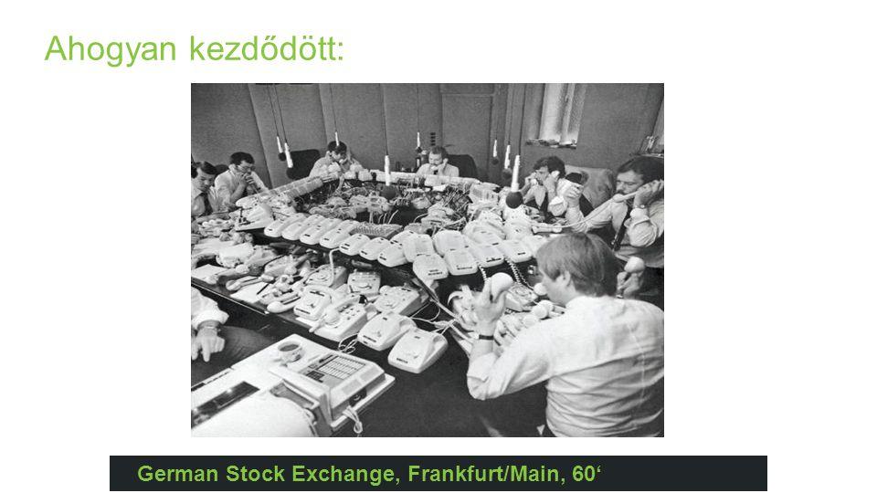 German Stock Exchange, Frankfurt/Main, 60' Ahogyan kezdődött: