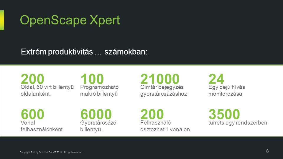 Oldal, 60 virt billentyű oldalanként. OpenScape Xpert 8 Copyright © Unify GmbH & Co.