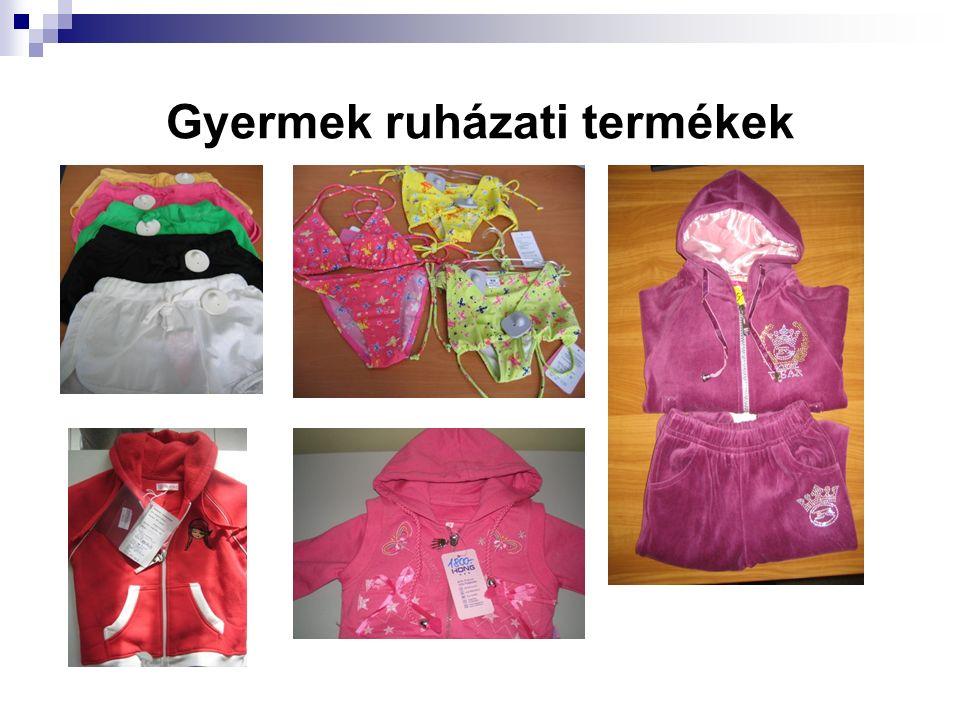 Gyermek ruházati termékek