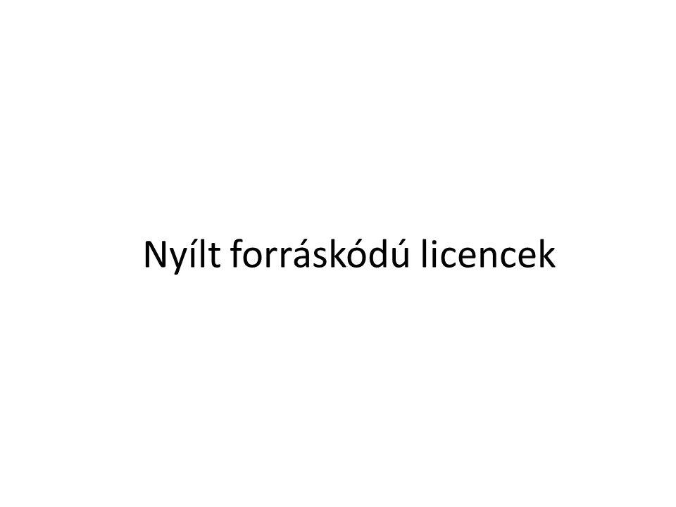 Nyílt forráskódú licencek